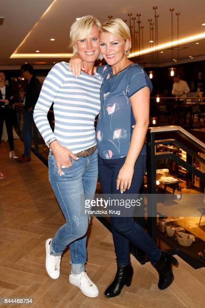 Juliana Senjo and her sister Kamilla Senjo attend the Till Demtroeders CharityEvent 'Usedom Cross Country' at the Pier 14 on September 8 2017 near...
