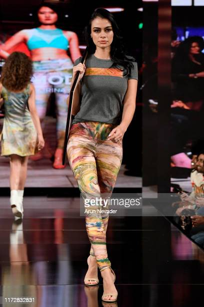Juliana Serna walks the runway during IG MODA at New York Fashion Week Powered by Art Hearts Fashion at The Angel Orensanz Foundation on September...