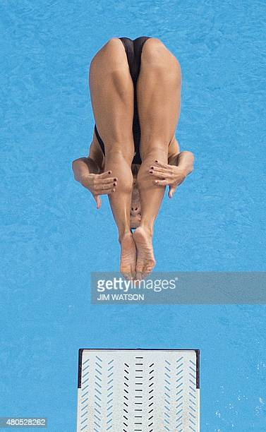 Juliana Veloso of Brazil competes in the Women's 3M Springboard finals at the 2015 Pan American Games in Toronto Canada July 12 2015 AFP PHOTO / JIM...
