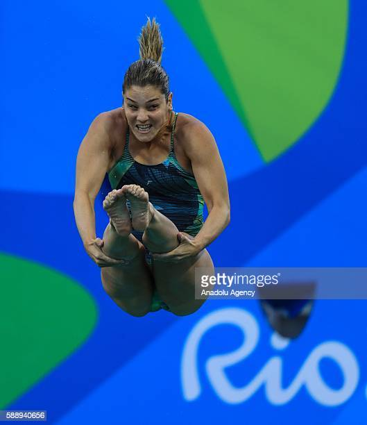Juliana Veloso of Brazil competes the Women's diving 3m springboard elimination during the Rio 2016 Olympic Games in Rio de Janeiro Brazil on August...