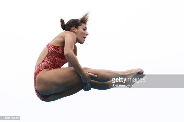 Juliana Veloso of Brazil dives during the Women's 3 Meter Preliminary round of the ATT USA Grand Prix Diving at the Fort Lauderdale Aquatics Complex...