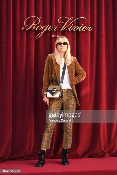 Juliane Diesner attends the Roger Vivier Presentation Spring/Summer 2019 during Paris Fashion Week on September 27 2018 in Paris France