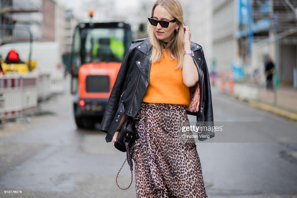 Street Style Day 3 - Copenhagen Fashion Week A/W 18 : News Photo