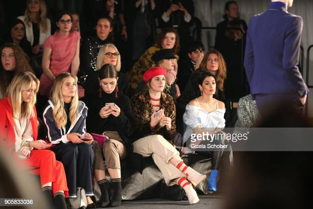 Juliane Diesner Xenia Overdose Vicky Heiler Michele Kruesi Anna Nooshin during the Marc Cain Fashion Show Berlin Autumn/Winter 2018 at metro station...