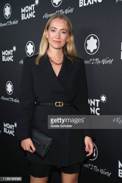 """Juliane Diessner attends the """"To Berlin and Beyond with Montblanc: Reconnect To The World"""" launch event at Metropol Theater on April 24, 2019 in..."""