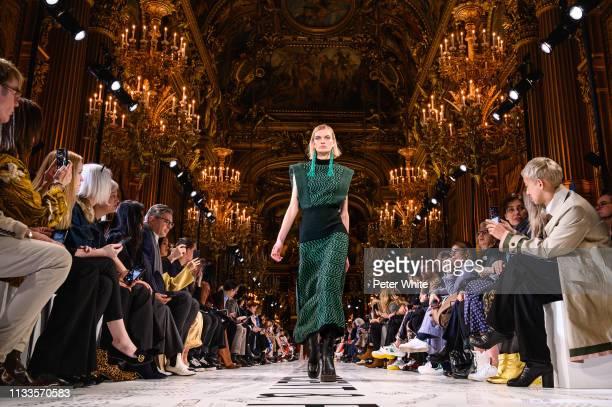 Juliane Grüner walks the runway during the Stella McCartney show as part of the Paris Fashion Week Womenswear Fall/Winter 2019/2020 on March 04 2019...
