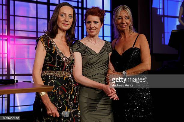 Juliane Hielscher Monica Lierhaus and Kirsten Kuhnert attend the charity event dolphin aid gala 'Dolphin's Night' at InterContinental Hotel on...