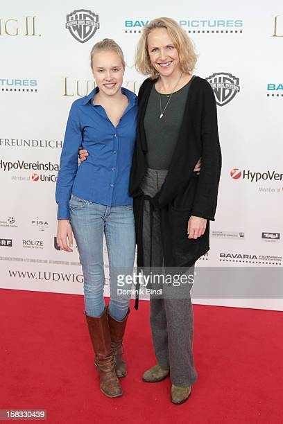 Juliane Koehler and daughter Fanny attends Ludwig II Germany Premiere at Mathaeser Filmpalast on December 13 2012 in Munich Germany