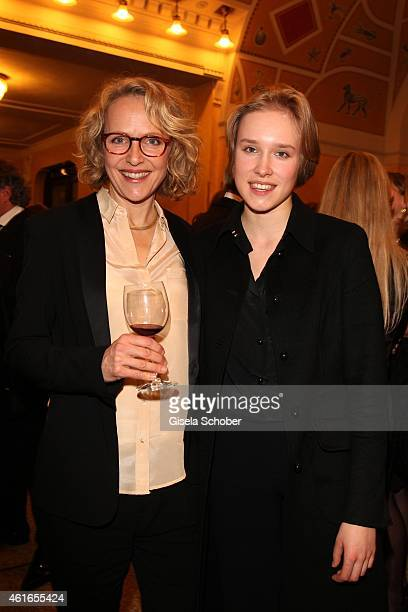 Juliane Koehler and her daughter Fanny during the Bavarian Film Award 2015 on January 16 2015 in Munich Germany