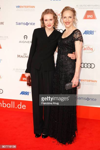 Juliane Koehler and her daughter Fanny Koehler attend the German Film Ball 2018 at Hotel Bayerischer Hof on January 20 2018 in Munich Germany