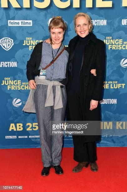 Juliane Koehler and her daughter Fanny Koehler attend the premiere of the movie 'Der Junge muss an die frische Luft' at Mathaeser Filmpalast on...