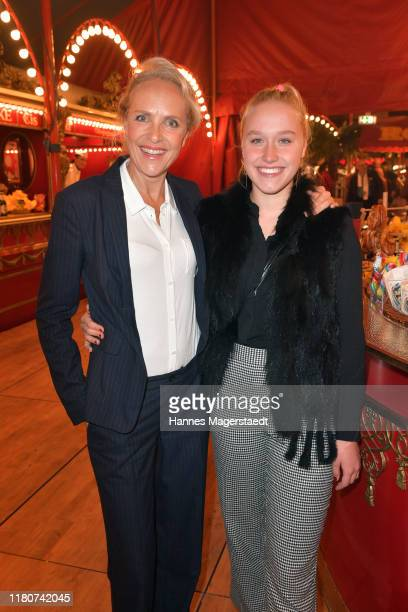 Juliane Koehler and her daughter Fanny Koehler during at the premiere of Circus Roncalli's Storyteller Gestern Heute Morgen on October 12 2019 in...