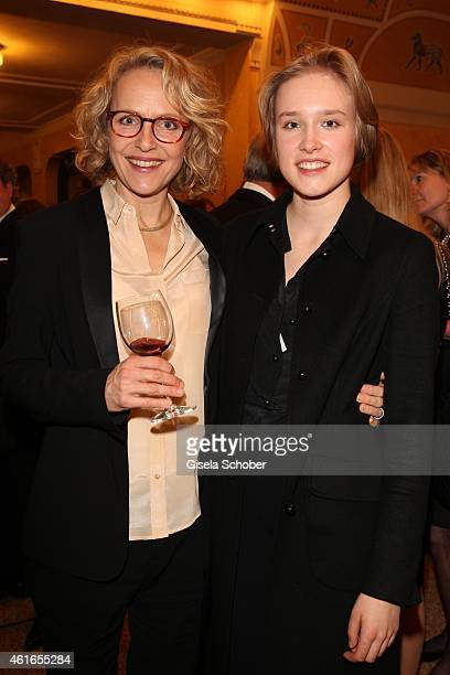 Juliane Koehler and her daughter Fanny Koehler during the Bavarian Film Award 2015 on January 16 2015 in Munich Germany