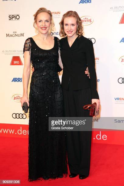 Juliane Koehler and her daughter Fanny Koehler during the German Film Ball 2018 at Hotel Bayerischer Hof on January 20 2018 in Munich Germany