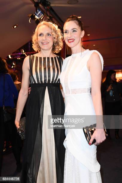 Juliane Koehler and Kim Riedle attend the opening party during the 67th Berlinale International Film Festival Berlin at Berlinale Palace on February...