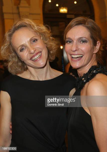 Juliane Koehler and Lisa Martinek attend the Bavarian Movie Awards 2013 after party on January 18 2013 in Munich Germany