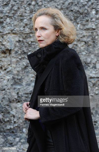 Juliane Koehler attends the memorial service for Bernd Eichinger at the St Michael Kirche on February 07 2011 in Munich Germany Producer Bernd...