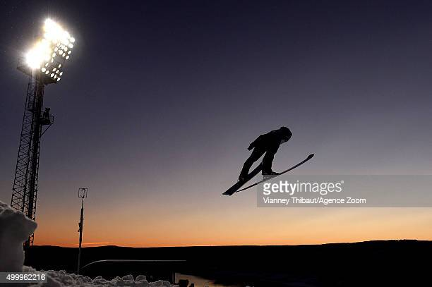 Juliane Seyfarth of Germany competes during the FIS Nordic World Cup Women's Ski Jumping HS100 on December 04 2015 in Lillehammer Norway