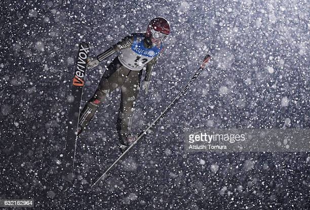 Juliane Seyfarth of Germany competes in the Ladies' HS106 normal hill individual during the FIS Ski Jumping World Cup Ladies 2017 In Zao at Zao Jump...