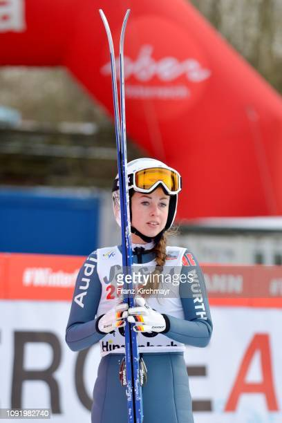 Juliane Seyfarth of Germany during the Qualification for the FIS Ski Jumping Women's Worldcup at Energie AG Skisprungarena on February 1 2019 in...