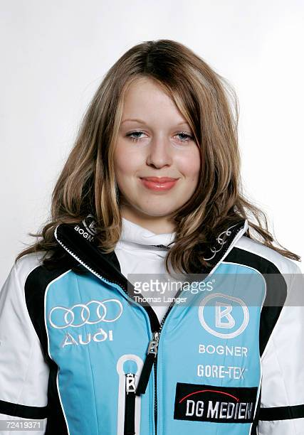 Juliane Seyfarth of Germany poses during the DSV German Ski Association photo call on October 19 2006 in Herzogenaurach Germany