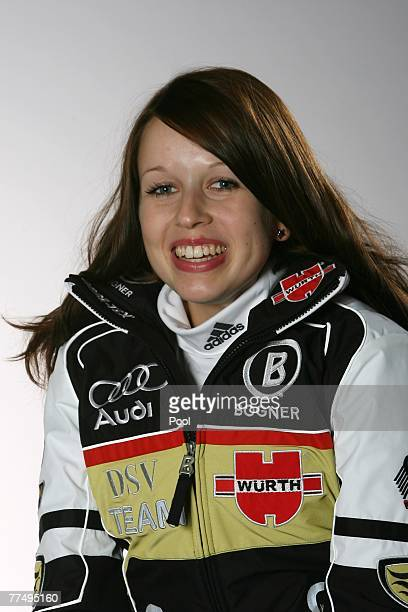 Juliane Seyfarth poses during the DSV photo call at the Audi Forum on October 19 2007 in Ingolstadt Germany