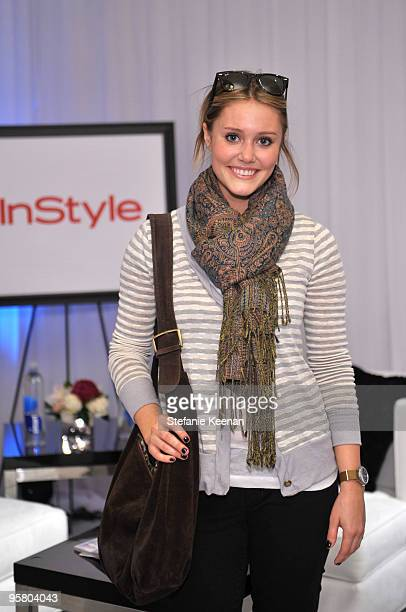 Julianna Guill appears at Day One of The InStyle Golden Globes Beauty Lounge 2010 atFour Seasons Hotel on January 15, 2010 in Beverly Hills,...