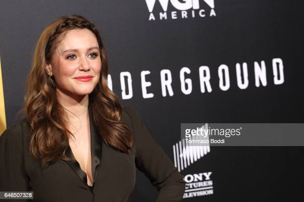 Julianna Guill attends the premiere of WGN America's 'Underground' Season 2 held at the Westwood Village on February 28 2017 in Los Angeles California