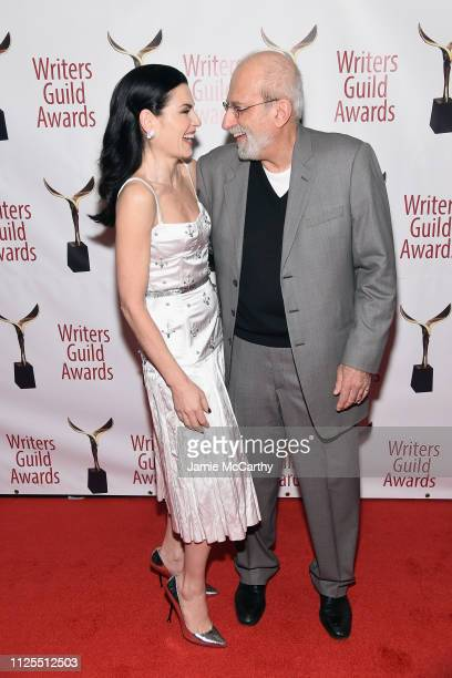Julianna Marguiles and Tom Fontana attend the 71st Annual Writers Guild Awards New York ceremony at Edison Ballroom on February 17 2019 in New York...