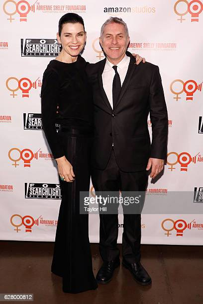 Julianna Margulies and Andy Ostroy attend the Adrienne Shelly Foundation 10th Anniversary Gala at The Angel Orensanz Foundation on December 5 2016 in...