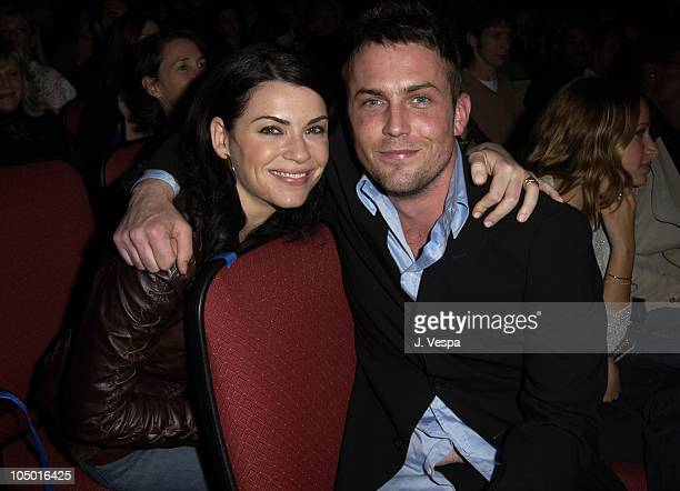 Julianna Margulies and Desmond Harrington during Ghost Ship Screening at Orpheum Theatre in Los Angeles California United States