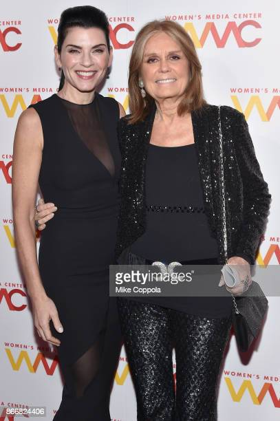 Julianna Margulies and Gloria Steinem attend the Women's Media Center 2017 Women's Media Awards at Capitale on October 26 2017 in New York City