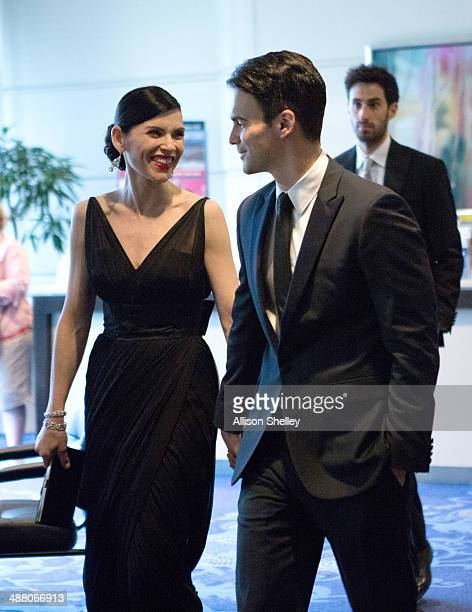Julianna Margulies and Keith Lieberthal arrive at the 100th Annual White House Correspondents' Association Dinner at the Washington Hilton on May 3...