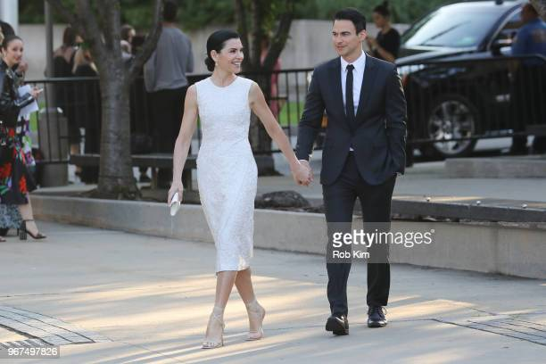 Julianna Margulies and Keith Lieberthal arrive for the 2018 CFDA Fashion Awards at Brooklyn Museum on June 4, 2018 in New York City.