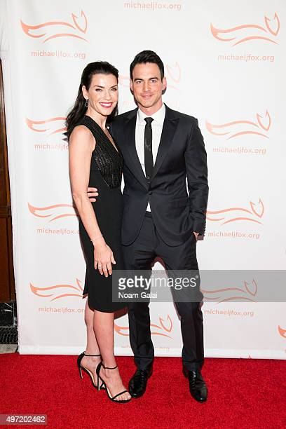 Julianna Margulies and Keith Lieberthal attend the Michael J Fox Foundation's A Funny Thing Happened On The Way To Cure Parkinson's Gala at The...
