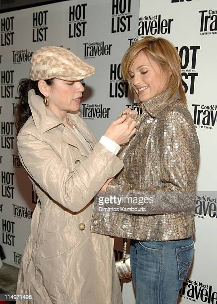 Julianna Margulies and Mariska Hargitay during 2005 Conde Nast Traveler Hot List Party at Megu in New York City New York United States