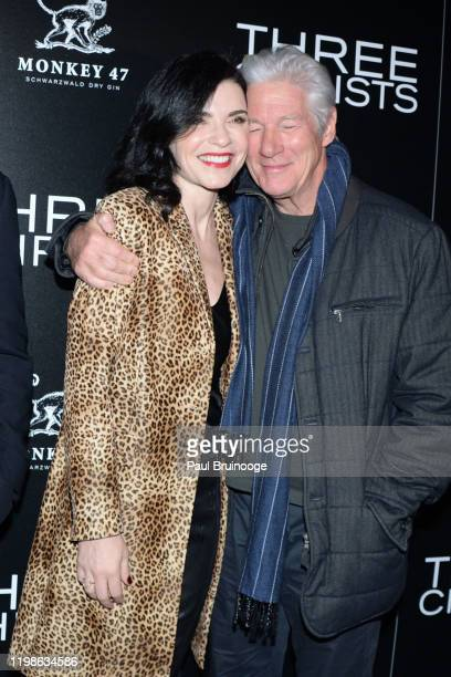 """Julianna Margulies and Richard Gere attend IFC Films With The Cinema Society And Monkey 47 Host A Special Screening Of """"Three Christs"""" at Regal Essex..."""