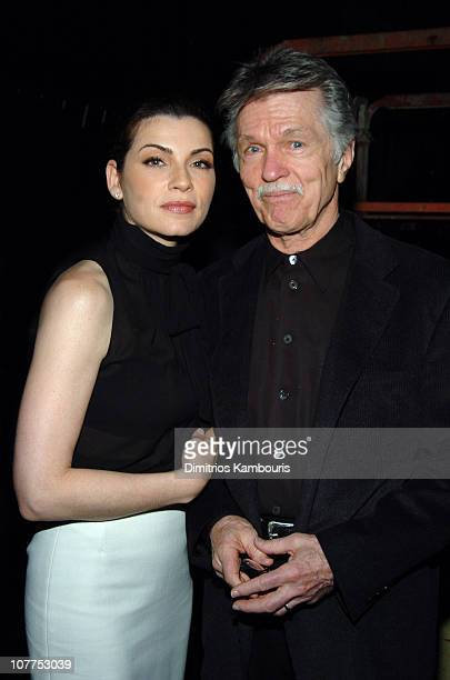 Julianna Margulies and Tom Skerritt 3837_033 during TBS/TNT Upfront Rehearsals April 22 2004 at Armory in New York City New York United States