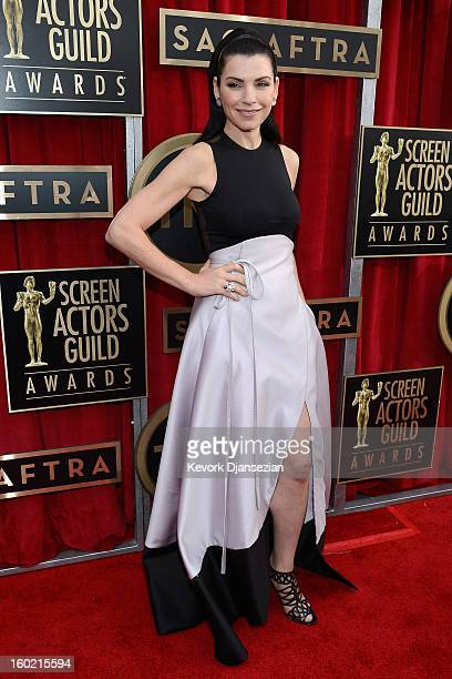Julianna Margulies arrives at the 19th Annual Screen Actors Guild Awards held at The Shrine Auditorium on January 27, 2013 in Los Angeles, California.