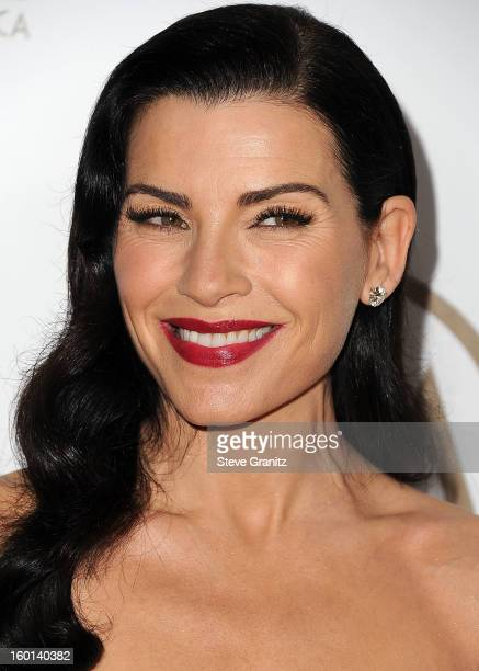 Julianna Margulies arrives at the 24th Annual Producers Guild Awards at The Beverly Hilton Hotel on January 26, 2013 in Beverly Hills, California.
