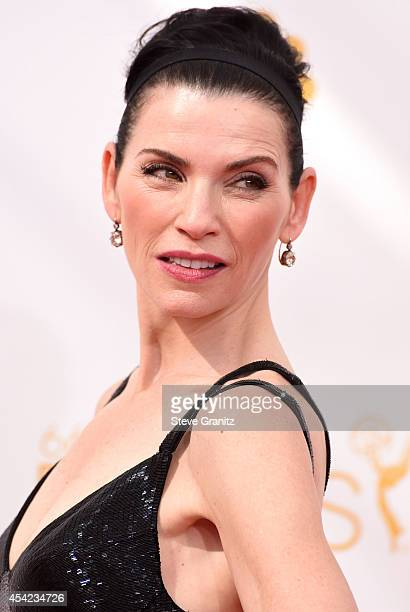 Julianna Margulies arrives at the 66th Annual Primetime Emmy Awards at Nokia Theatre LA Live on August 25 2014 in Los Angeles California