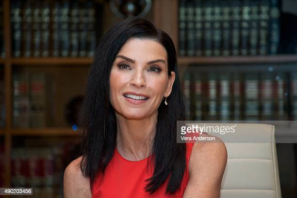 Julianna Margulies at 'The Good Wife' Set Visit at on September 25 2015 at Stages in Brooklyn New York