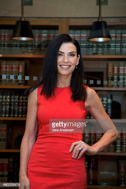 Julianna Margulies at The Good Wife Set Visit at on September 25 2015 at Stages in Brooklyn New York
