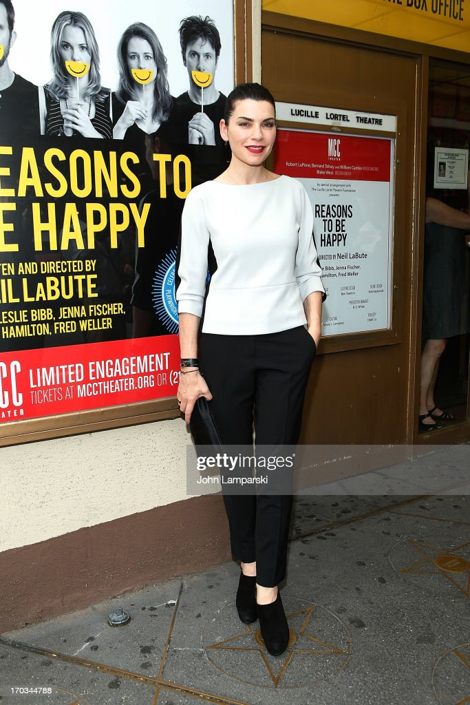 Julianna Margulies attends 'Reasons To Be Happy' Broadway Opening Night at the Lucille Lortel Theatre on June 11, 2013 in New York City.
