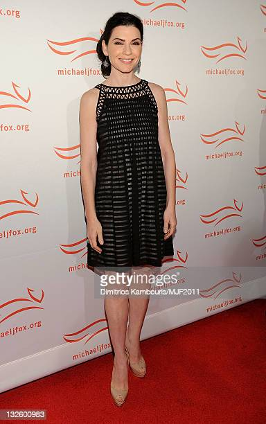 Julianna Margulies attends the 2011 A Funny Thing Happened On The Way To Cure Parkinson's event at The Waldorf=Astoria on November 12, 2011 in New...