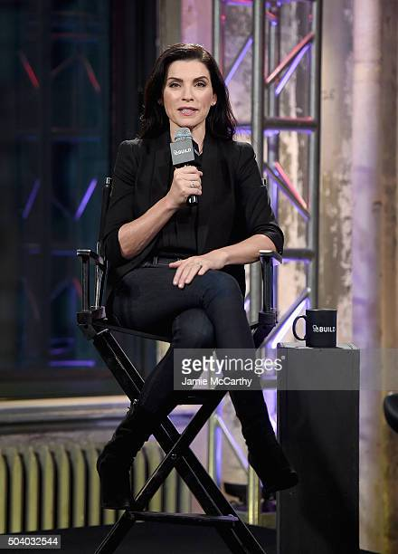 Julianna Margulies attends the AOL BUILD Series at AOL Studios In New York on January 8 2016 in New York City