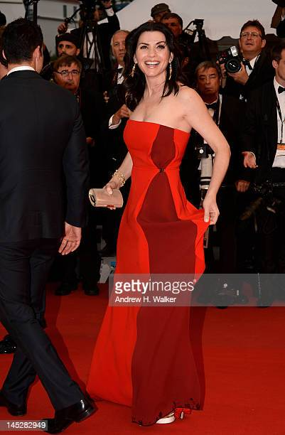 Julianna Margulies attends the 'Cosmopolis' premiere during the 65th Annual Cannes Film Festival at Palais des Festivals on May 25 2012 in Cannes...
