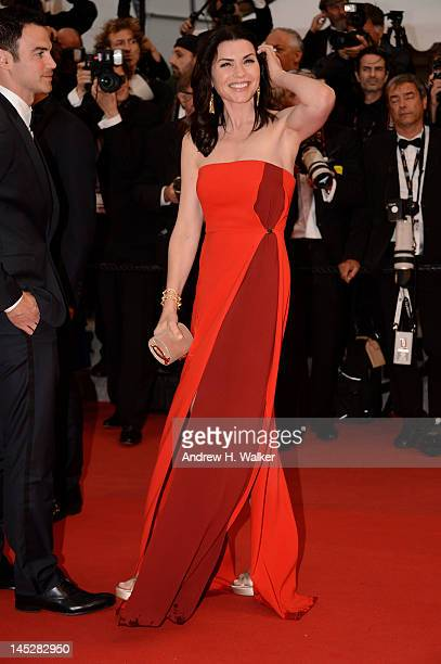 Julianna Margulies attends the Cosmopolis premiere during the 65th Annual Cannes Film Festival at Palais des Festivals on May 25 2012 in Cannes France