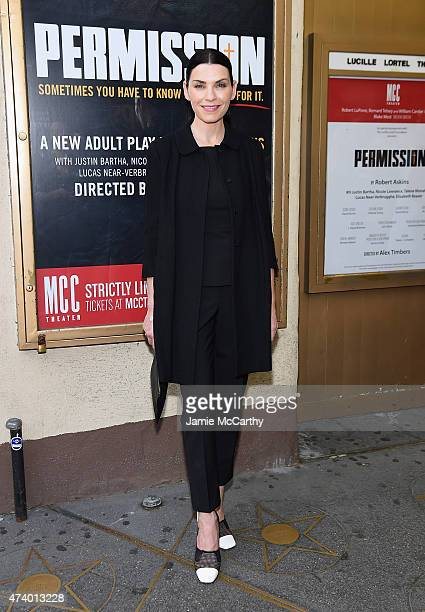 Julianna Margulies attends the Permission Opening Night at Lucille Lortel Theatre on May 19 2015 in New York City