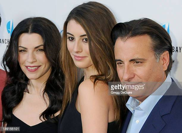 Julianna Margulies Dominik GarciaLorido and Andy Garcia arrive at the Los Angeles Premiere of City Island at The Landmark Theatre on March 15 2010 in...